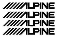 4 pegatinas RACING 12CM  ALPINE KIT STICKER
