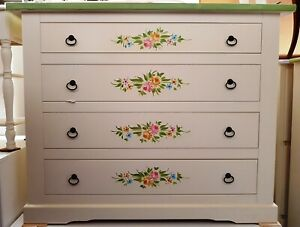 Chest of Drawers Dresser' With Decorations CMS 115X50X90H