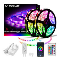 10m Wifi Smart RGB LED Strip Adapter Kit for Alexa Google Home APP  Control