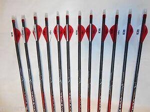 12 Carbon Express Maxima Hunter 250 400 Camo Hunting Arrows Bohning Blazer Vanes