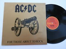 AC/DC For Those About To Rock LP Vinyl 1981,  Albert OZ 1st Pressing EX+