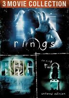 Rings + The Ring + The Ring Two 2 (DVD) Brand New Factory Sealed Horror 3 Pack