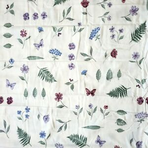 """Flannel Queen Flat Sheet 90""""x102"""" Portugal Floral Butterfly 100% Cotton Leaf New"""