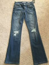 Guess Jeans Womens Tailored Mini Boot Leg Destroyed Distressed Jeans sz 25 S NWT