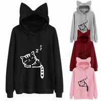 Loose Lantern Sleeve Sweatshirt Sweater Coat Tops Hoodies Pullover Jumper Womens