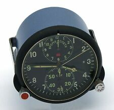 "Soviet 70's-made AirForce Cockpit Clock ACS-1 ""B"" / AChS-1 ""B"" for Su/MiG jets"