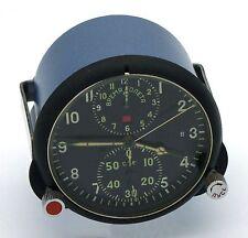 "Soviet 70's-made AirForce Cockpit Clock ACS-1 ""B"" / AChS-1 ""B"" for Su/MiG jets"