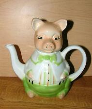 Tony Wood Studios Pig Tea Pot Excellent Condition