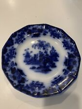 "Antique 1848 Flow Blue 10.5"" Scinde Plate"