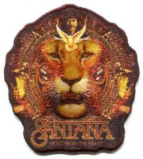 SANTANA lion logo EMBROIDERED IRON-ON PATCH - music from the heart carlos p4051