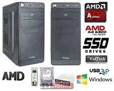 PC DESKTOP COMPLETO AMD A4-6300 X2 3,7GHZ VGA HD 8370D HD SSD 120GB RAM 8GB FAST