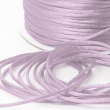 LILAC/MAUVE 100 Metres Satin Cord 2mm Rattail Kumihimo Macrame Craft Wrapping