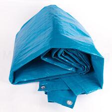 CAMPING GROUND SHEET AWNING FESTIVAL TARPAULIN 12'X 8' 77G/PSM BLUE WATERPROOF