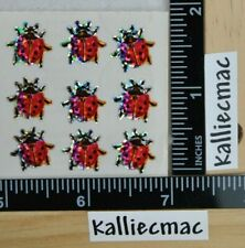 Sandylion GLITTER LADYBUGS Stickers 1 SQUARE