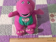 """Barney 10"""" Plush w/ Voice """"I Love You."""" (On/Off Switch) *Tested* (Free Ship.)"""