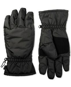 Isotoner Men's Winter Gloves Black Size Medium M smartDri Fleece Lining $58 #197