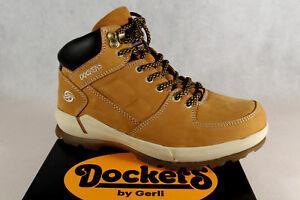 Dockers Botas de Cordón Botas Invierno Amarillo Cuero Auténtico 39OR003 Nuevo