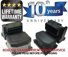 ABS PUMP CONTROL MODULE REPAIR SERVICE, FITS SAAB 9-3 9-5 900 9000 BOSCH EBCM *