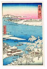 1930's Japan Japanese Woodblock Wood Block Print Vintage Old Antique #6