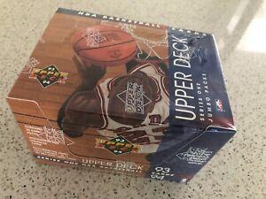 93-94 Upper Deck NBA Series One Jumbo Packs Unopened Factory Sealed Box