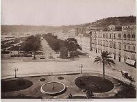 Italia Napoli Villa Rimorchi Vintage Albumina Ca 1875