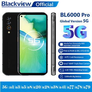 """Blackview BL6000 Pro 5G Handy 8GB+256GB Robust 6,36"""" Android 10 Smartphone 48MP"""