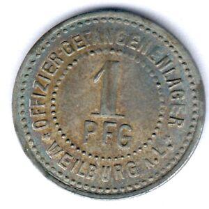 Offiziersgefangenlager Weilburg a.L. 1 Pfennig ohne Jahr, Menzel 26245.2, ss+