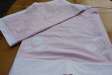 Drap ancien en coton rose monogramme MG 206 X 292 Cm + taie