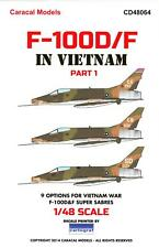 Caracal Decals 1/48 NORTH AMERICAN F-100D F-100F SUPER SABRE in Vietnam Part 1