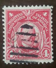 Philippines stamp cursive O.B. used hinged.