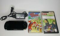 Sony PlayStation Portable PSP 1001 Console Bundle w/Memory Card Charger+ 2 Games