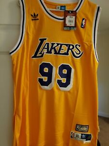 """Lakers 99 """"Chevy Chase Fletch"""" Jersey Yellow XL Adult Halloween Holiday Gift"""