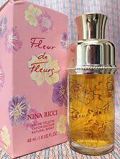 Vintage 90s Fleur de Fleurs 1.6 oz 48 ml Eau de Toilette Nina Ricci OLD FORMULA