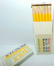 1 Vintage pencil box 12 Yellow Colored Pencils, DIXON PAPEREX, New Jersey