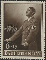 Stamp Germany Mi 701 Sc B147 1939 WW2 Fascism War Hitler Podium MNH