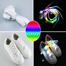 LED Shoelace Flash Luminous Light Up Glow Nylon Strap Shoe Laces Party Disco