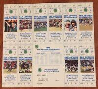 1985 USFL SAN ANTONIO GUNSLINGERS UNUSED FOOTBALL FULL TICKET SHEET - 10 GAMES