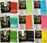 Saree Blouse Indian Bollywood Georgette Fancy Work Sari Embroidery Ethnic MOS