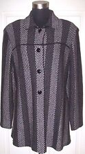 Alnoral Al Spokavicius Jacket Sz M Black White Santana Knit Wool Dress Suit L