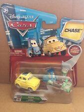 Disney Cars Diecast Guido avec roulettes et plateau & luigi avec seau-Chase-yeux