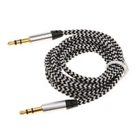 1m Nylon Audio Auxiliary Cable Male to Male for Headphone Speaker Car Stereo