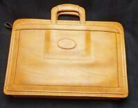 Vintage Leather Briefcase Portfolio Messenger