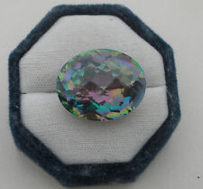 Rainbow Mystic Quartz Oval Crosscut Gem 30 x 20mm