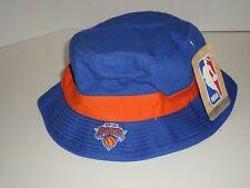 c9258350863 NBA New York Knicks Adidas Blue Orange Bucket Hat Size SM Authentic NEW