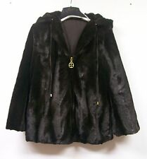 IMAN Luxury Mink Faux Fur Jacket Platinum Collection $199.95 BROWN XS