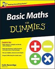 Basic Maths For Dummies New Paperback Book Colin Beveridge