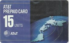 TK AT&T 115u 1993 PrePaid Card: Flat Map of Continents (Type 2 Reverse)