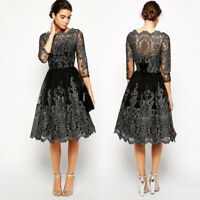 Women Formal Lace Dress Prom Evening Party Cocktail Bridesmaid Wedding Gown