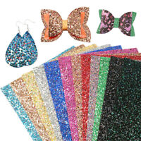 Faux Leather Sheets Chunky Glitter Fabric DIY Handmade Accessories Fabric Craft