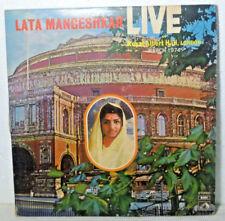 Lata mangeshkar Live at Royal Albert Hall London Bollywood 2 LP 1974 Indian VG+
